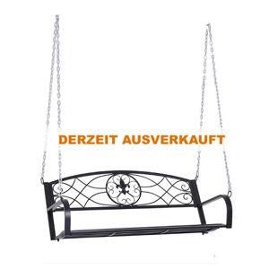 Outsunny Hängebank schwarz 132 x 63 x 58 cm (LxBxH)   Gartenschaukel Schaukelbank Hollywoodschaukel