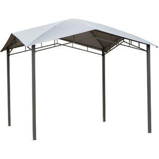 Outsunny Gartenzelt mit geometrischem Laubendach grau, schwarz 300 x 300 x 260 cm (LxBxH) | Pavillon Partyzelt Festzelt Gartenpavillon