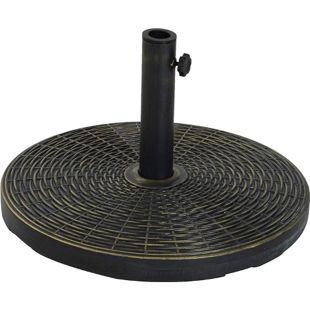 Outsunny Sonnenschirmständer bronze 53 x 30 cm (ØxH) | Sonnenschirmhalter Schirmständer Schirmfuß