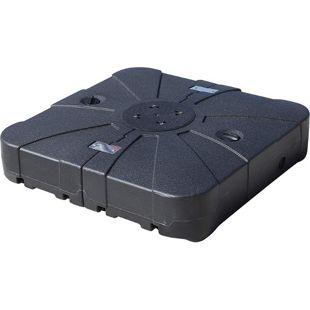 Outsunny Sonnenschirmständer schwarz 84 x 84 x 19 cm (LxBxH) | Sonnenschirmhalter Schirmständer Schirmfuß