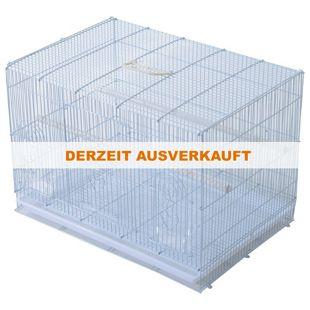 PawHut Vogelkäfig mit ausziehbarem Unterbrett weiß 60 x 41 x 41 cm (LxBxH) | Vogelbauer Vogelvoliere Vogelhaus Häuschen Käfig