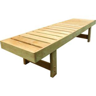 Karibu Saunabank aus Espenholz