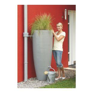 Garantia Wasserbehälter 2in1 mit Pflanzschale 300 L zinkgrau