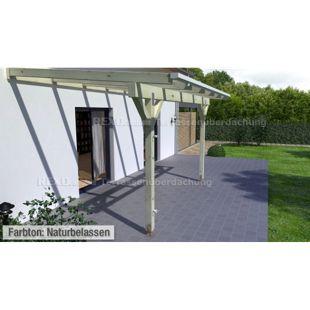 REXOcomplete 306 x 350 cm Terrassendachbausatz mit Holzunterkonstruktion Palisander
