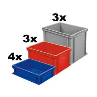 BRB Euro-Stapelbehälter / -Stapelboxen 10 Stück