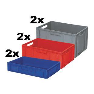 BRB Euro-Stapelbehälter / -Stapelboxen 6 Stück