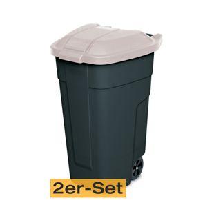 BRB Mülltonne 100 Liter VE: 2 Stück, anthrazit/beige