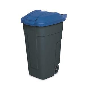 BRB Mülltonne 100 Liter VE: 2 Stück, anthrazit/blau