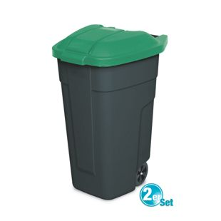 BRB Mülltonne 100 Liter VE: 2 Stück, anthrazit/grün