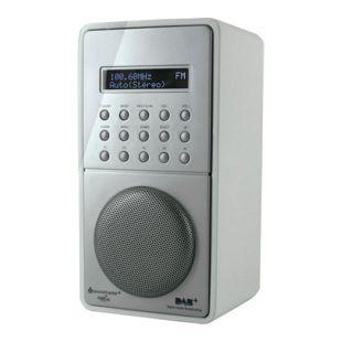 Soundmaster DAB100WS weißes DAB+ / UKW-PLL Radio mit Festsenderspeicher und Akku