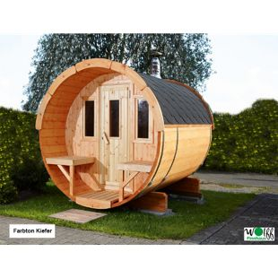 Wolff Finnhaus Saunafass 250 Bausatz, naturbelassen