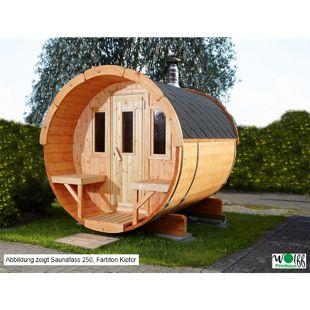 Wolff Finnhaus Saunafass 330 Bausatz 2-Raum, naturbelassen