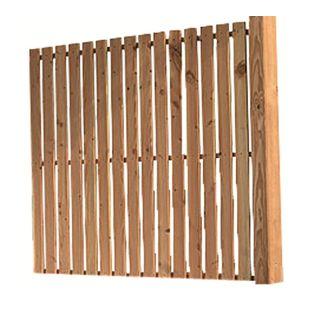 Karibu Seitenwand für Terrassenüberdachung Premium Douglasie Modell 1
