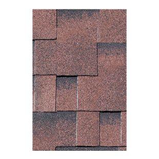 Karibu Dachschindeln Asymmetrisch 3 m², Farbe rot geflammt