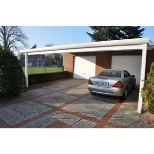 VP Trading Terrassenüberdachung 300x250 weiß aus Aluminium inkl. Statik und Polycarbonat Dacheindeckung