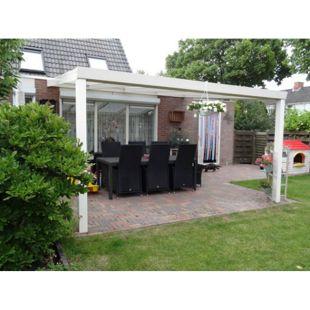 VP Trading Terrassenüberdachung 300x250 creme aus Aluminium inkl. Statik und Polycarbonat-Dacheindeckung