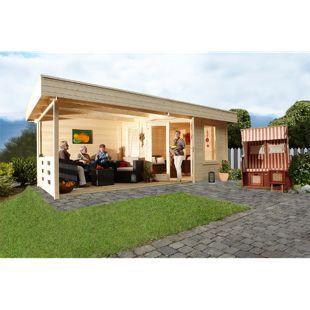 Wolff Finnhaus Gartenhaus Nina 28-B mit Terrasse