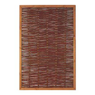 T&J Weidengeflechtzaun mit Rahmen 120 x 180 cm