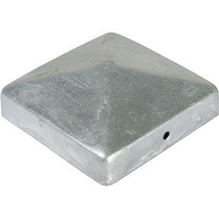 T&J Pfostenabdeckung aus Metall 9 x 9 cm, feuerverzinkt