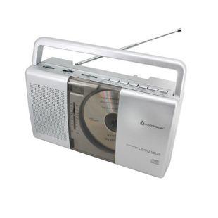 Soundmaster RCD1150 MW/UKW-Kofferradio mit Vertikal-CD-Spieler