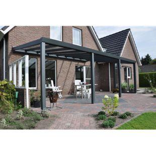 VP Trading Terrassenüberdachung 500 x 350 aus Aluminium, inkl. Statik und VSG-Glas-Eindeckung