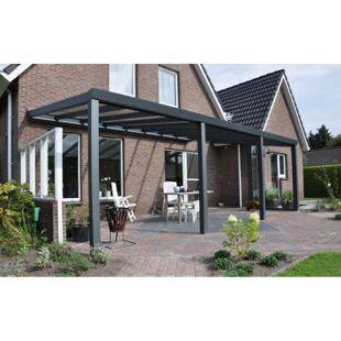 VP Trading Terrassenüberdachung 500 x 400 aus Aluminium, inkl. Statik und VSG-Glas-Eindeckung