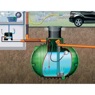Garantia Columbus Komplettpaket Haus-Premium 3700 L befahrbar grün