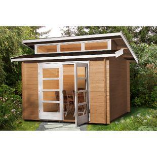 Weka 158 Gartenhaus 28mm, Größe 1 mit 3 Oberlichtern