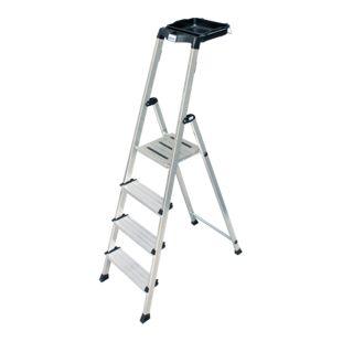 """Krause """"Secury"""" Stufen-Stehleiter mit MultiGrip-System, 4 Stufen"""