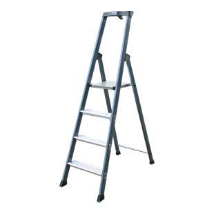 """Krause """"SePro"""" Stufen-Stehleiter, eloxiert - 4 Stufen"""