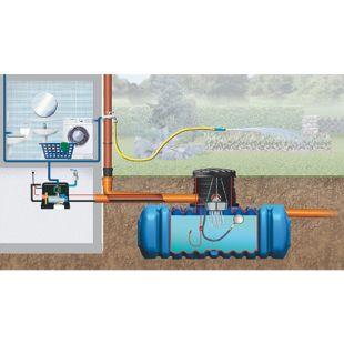 4rain FLAT Flachtank-Paket Haus-Premium, begehbar 3.000 Liter