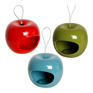 dobar Edler Keramik-Futterspender in Apfelform, 3er Set