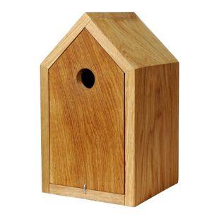 Dobar 46760e Design-Nistkasten aus Eichenholz mit Spitzdach