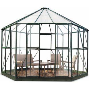 Halls Atrium Gewächshaus mit 3 mm Sicherheitsglas - grün