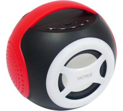 Denver Bts 90 Universal 2 1 Bluetooth Lautsprecher Rot