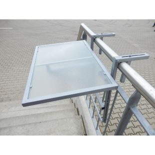 Merxx Balkonhängetisch, Glas 60 x 40