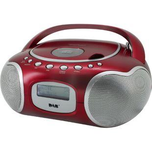 Soundmaster SCD4200RO Stereo-PLL-DAB+ Radio mit CD in rot