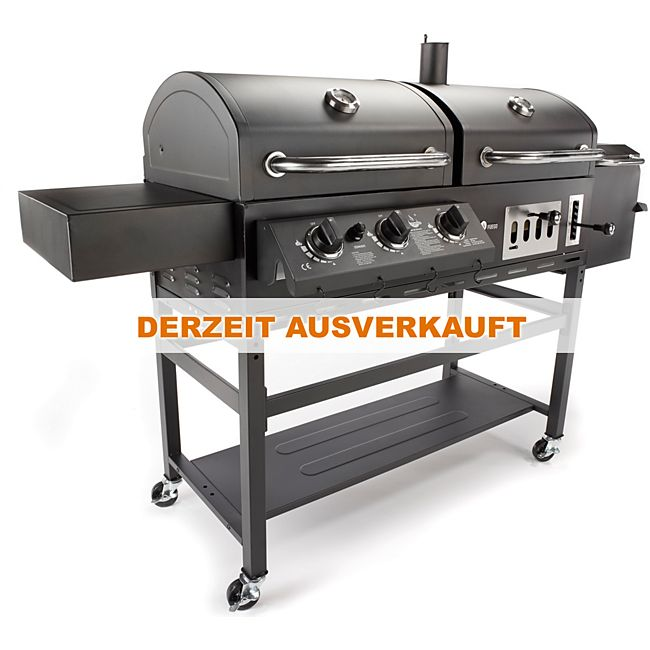 el fuego cherokee 3 in 1 smoker gasgrill holzkohle kombigrill online kaufen. Black Bedroom Furniture Sets. Home Design Ideas