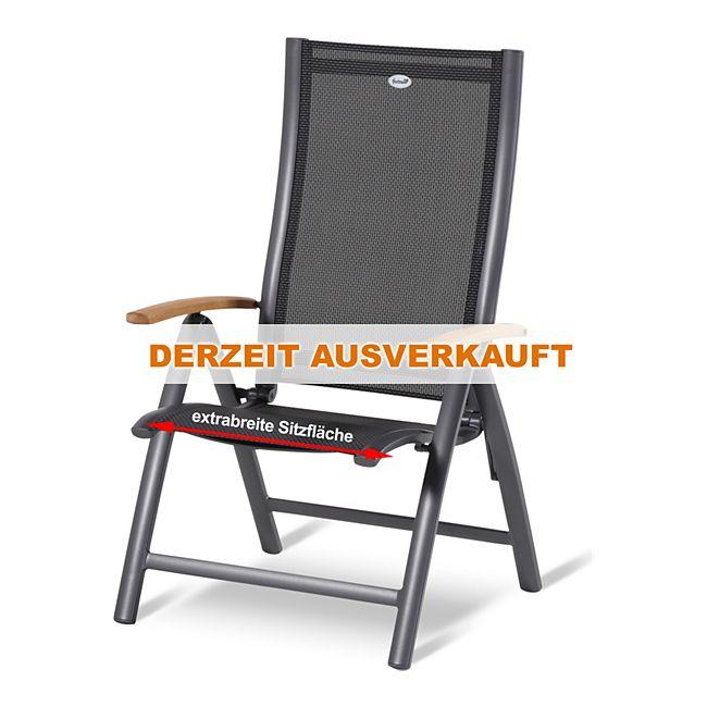 hartman klappsessel belcampo teak 150 kg belastbarkeit aluminium textilene online kaufen. Black Bedroom Furniture Sets. Home Design Ideas