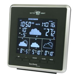 TechnoLine WD 4025 WetterDirekt Station Negativ-Display