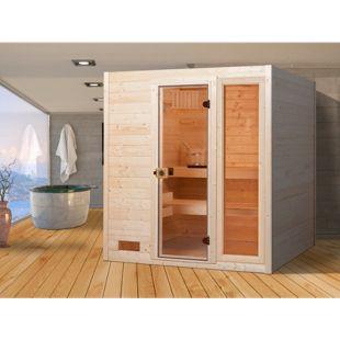 Weka Sauna Valida 2 mit Zusatzfenster, 189 x 203 x 189 cm