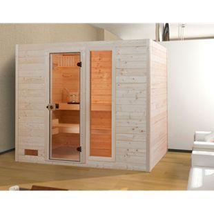 Weka Sauna Valida 2 mit Zusatzfenster, 239 x 203 x 189 cm