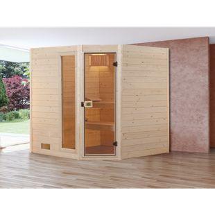 Weka Eck-Sauna Valida 2 mit Zusatzfenster, 189 x 203,5 x 189 cm