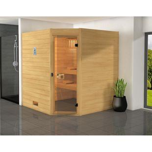 Weka Eck-Sauna Valida 3, 239 x 230,5 x 139 cm
