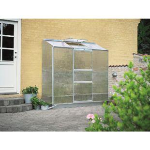 Halls Altan 3 Wandgewächshaus mit 4 mm Hohlkammerplatten