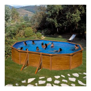 Gre Galapagos Dream Pool oval 610 x 375 x 120 cm Stahlwandbecken-Set