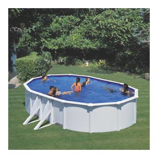 Gre Stahlwandbecken-Set Dream Pool Bora Bora, oval 610 x 375 x 120 cm