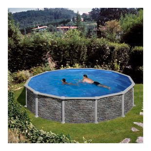 Gre Stahlwandbecken-Set Dream Pool Corcega, Ø 350 x 132 cm