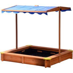 Dobar 94350FSC Sandkasten 117x117x117 cm, mit UV-Schutz
