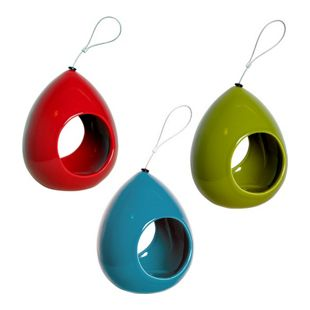 Luxus-Vogelhaus Keramik-Futterspender in Tropfenform